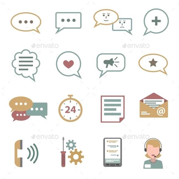 Chat Icons Flat Set