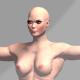 Nude Muscular Female - 3DOcean Item for Sale
