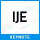 IJE - Premium Keynote Template - GraphicRiver Item for Sale