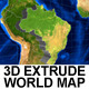 3D Extrude World Map - VideoHive Item for Sale