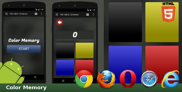HTML5 Color Memory