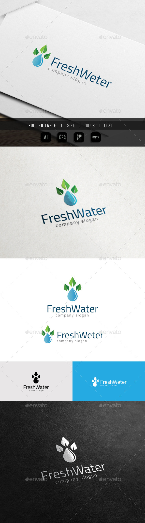 Eco Fresh Property - Mineral Water Drop Logo