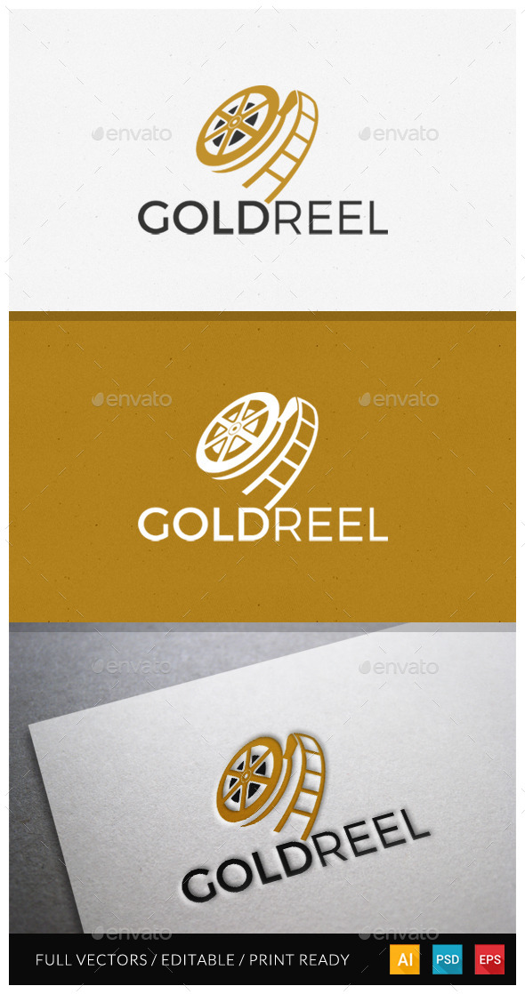 Goldreel Logo Template