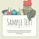 Doodle Monster Greeteng Or Invitation Card - GraphicRiver Item for Sale