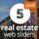 Real Estate Web Sliders - GraphicRiver Item for Sale