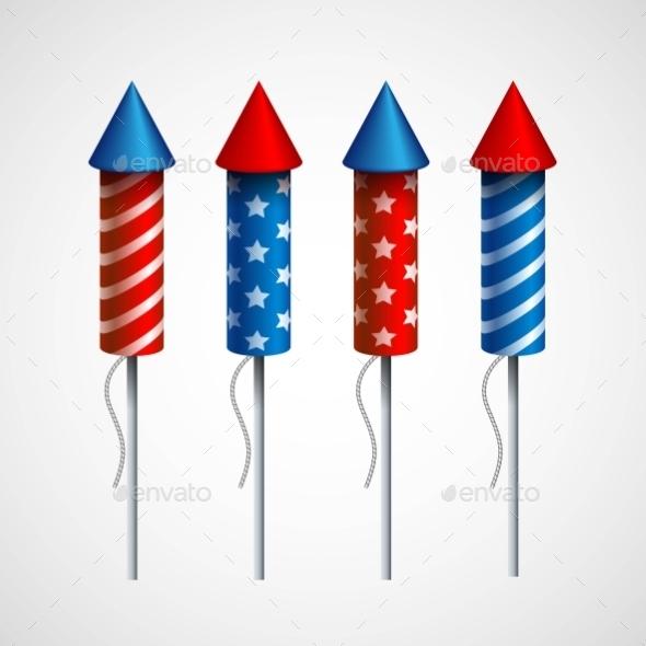 Set of Pyrotechnic Rockets