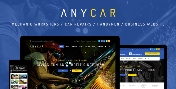 AnyCar - Automotive, Dealership WordPress Theme