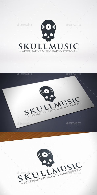 Skull Music Logo Template