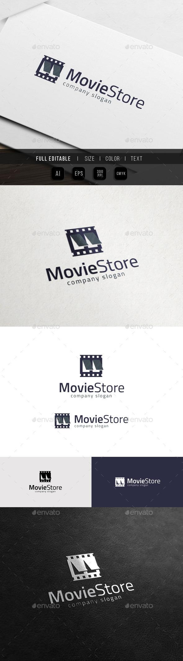 Movie Rental - DVD / Film Store Logo