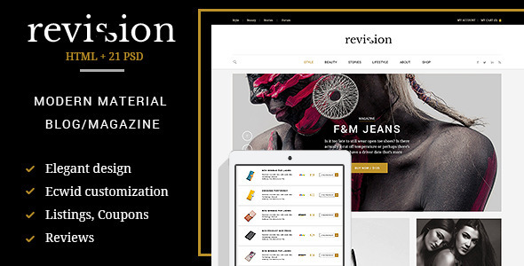 Revision - Elegant Material Design HTML Theme