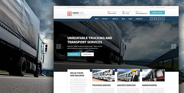 CargoPress - Logistic, Warehouse & Transport WP