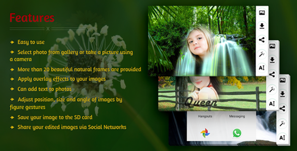 Edit Photo With Natural Frames Download