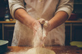 Chef kneading homemade bread. Retro colors - PhotoDune Item for Sale