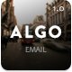 Algo - Responsive Email Template + Online Editor - ThemeForest Item for Sale