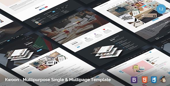 Kwoon - Multipurpose Single/Multi-page Template