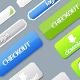 Website application buttons, sliders, loaders - GraphicRiver Item for Sale