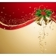 Christmas Card with Gold Bells and Holly - GraphicRiver Item for Sale