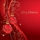 Merry Christmas  Card with Red Bauble  - GraphicRiver Item for Sale