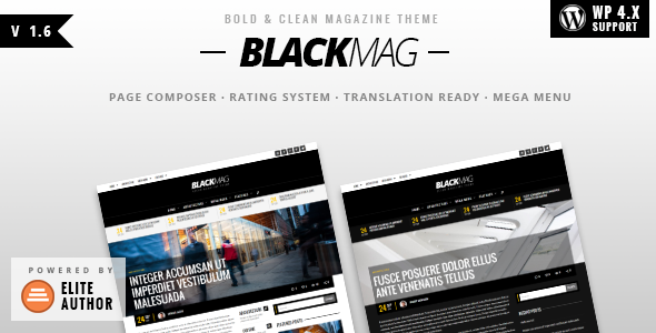 BLACKMAG - Bold & Clean Magazine Theme