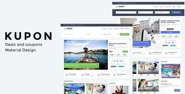 KUPON -  Deals & Discounts - Material Design