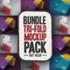 Bundle NT Tri-Fold Mockup  - GraphicRiver Item for Sale