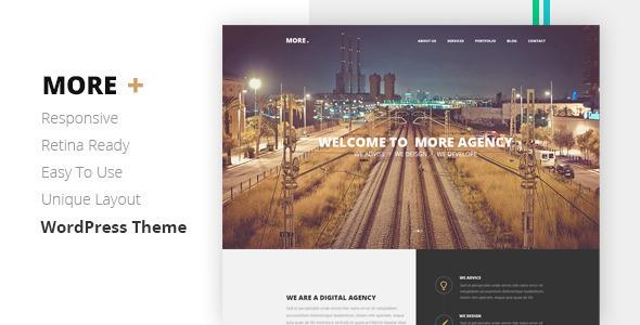 MORE – Creative One Page WordPress Theme, Gobase64
