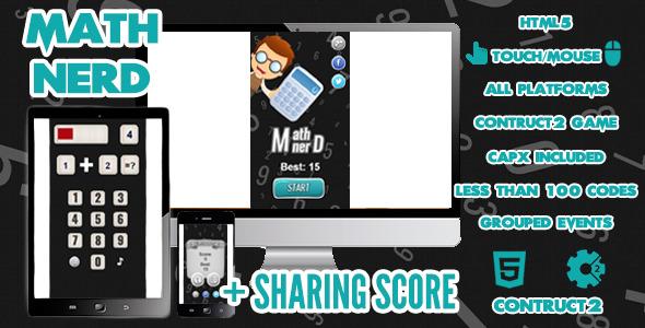 Math Nerd Game + Share Score