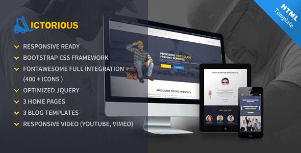 Victorious multi-purpose HTML5 template