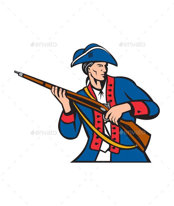 American Patriot Militia Musket Retro