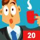 20 Cartoon Badges - GraphicRiver Item for Sale