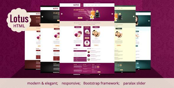 Lotus - Spa & Wellness HTML Responsive Template