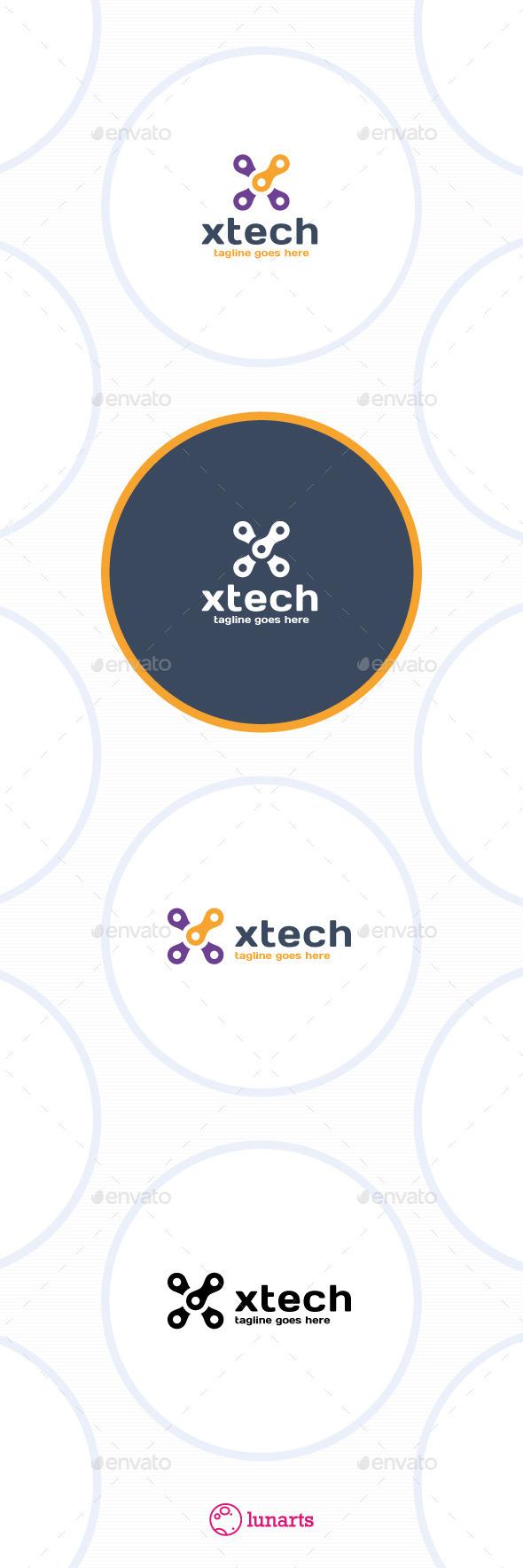 Tech Letter X Logo
