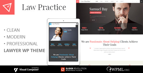 LAWPRACTICE | Lawyer Responsive Wordpress Theme