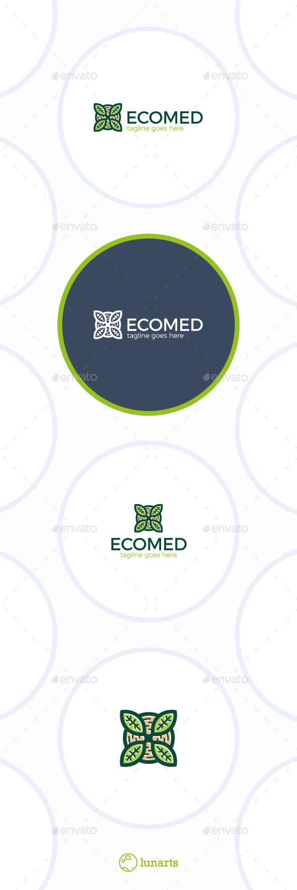Eco Medical Logo • Letter X