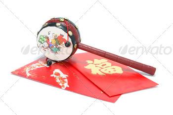 Chinese Tambourine and Red Packets