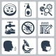 Infection, Virus Related Vector Icon Set - GraphicRiver Item for Sale
