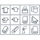 Vector Icon Set Of Towels, Napkins And Paper - GraphicRiver Item for Sale