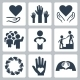 Charity And Volunteer Icon Set - GraphicRiver Item for Sale