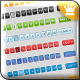 52 page navigation gradient styles in web 2.0 - GraphicRiver Item for Sale