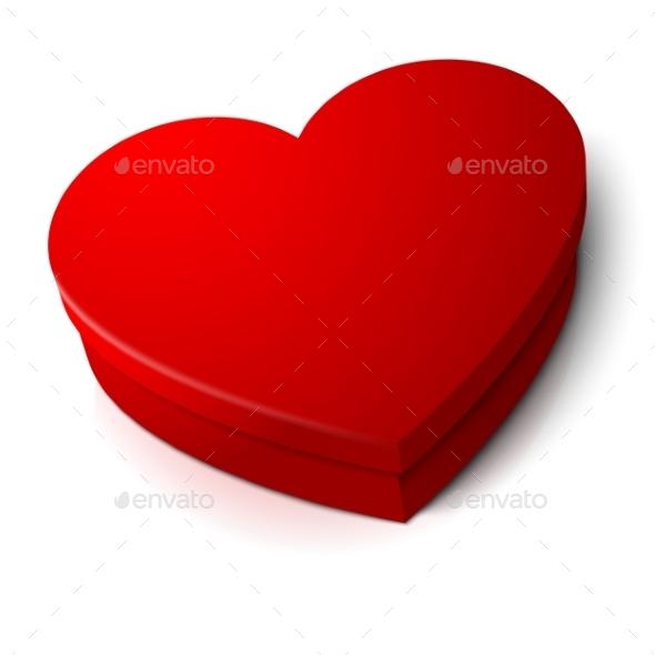 Red Heart Shape Box