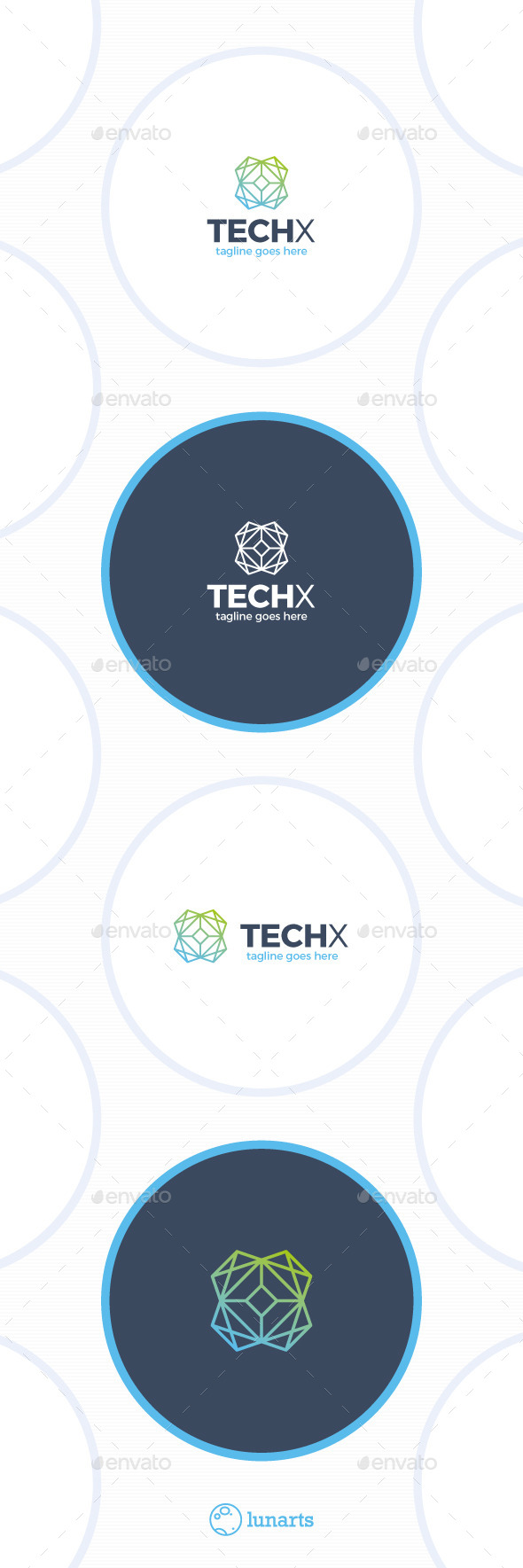 Tech Line Logo - Letter X