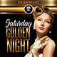 Saturday Golden Nights (Flyer Template 4x6) - GraphicRiver Item for Sale