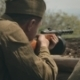 Soldiers With Rifles In The Dugout - VideoHive Item for Sale