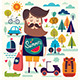 Background with Summer Symbols - GraphicRiver Item for Sale