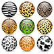 Animal Patterns Shiny Buttons - GraphicRiver Item for Sale