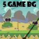 5 desert/jungle 2d game background - GraphicRiver Item for Sale