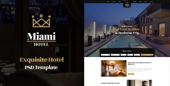 Miami - Exquisite Hotel PSD Template