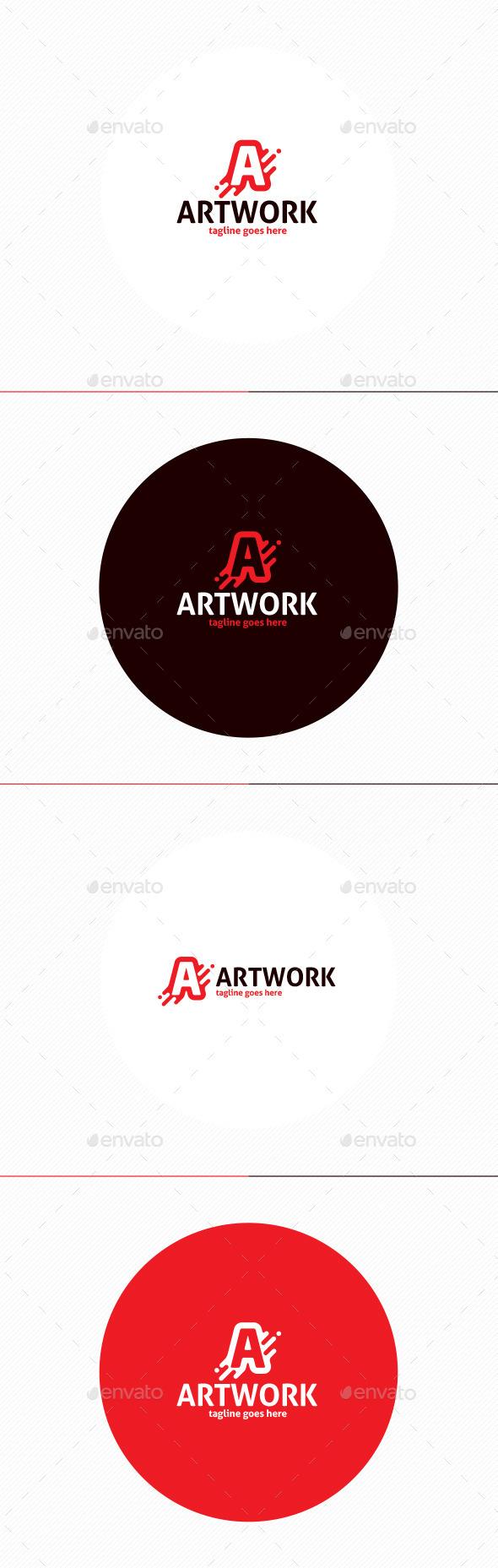 Art Work Logo • Letter A