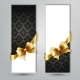 Invitation Card with Gold Holiday Ribbon - GraphicRiver Item for Sale
