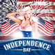 Independence and Memorial day flyer - GraphicRiver Item for Sale